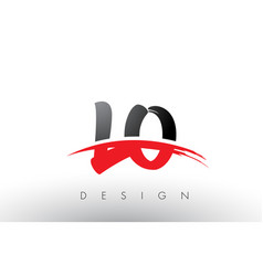 lo l o brush logo letters with red and black vector image