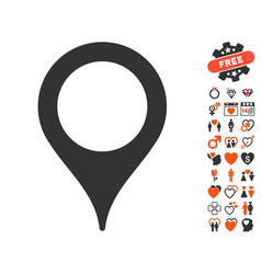 map pointer icon with lovely bonus vector image