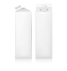 Milk and juice white carton package vector image