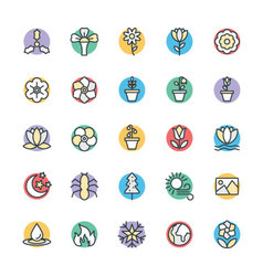 Nature Cool Icons 5 vector image