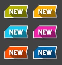 New Retro Paper Labels - Stickers Set vector image