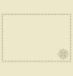 Old vintage paper with wind rose compass sign vector