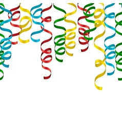 Party streamers background vector