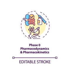 Pharmacodynamics and pharmacokinetics concept icon vector