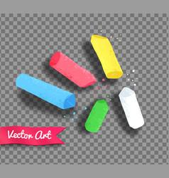 Pieces chalk vector
