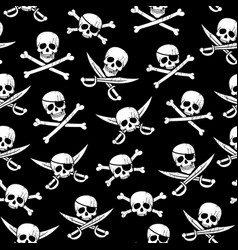 Pirate pattern vector