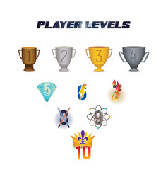Player levels vector