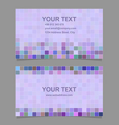 Purple square mosaic business card template design vector