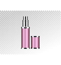 realistic pink package for cosmetic product vector image