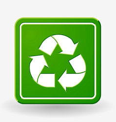 recycled and packaging symbol sign for cargo vector image