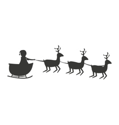 reindeer christmas cute animal vector image