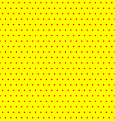 repeatable duotone yellow-red pop-art polka dot vector image