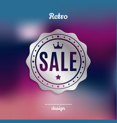 retro silver sale badge vector image
