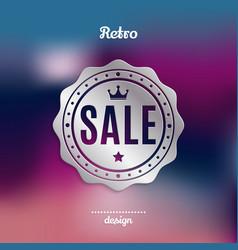 retro silver sale badge vector image