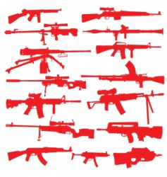 Rifles and assault weapons vector