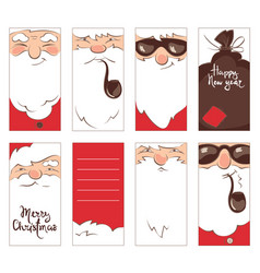 set christmas label vector image