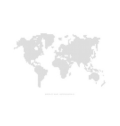 simple dotted political world map vector image