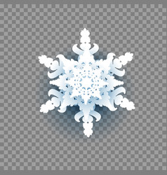 Snowflake on transparent background vector