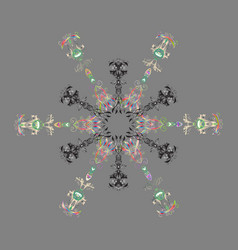 Snowflake pattern isolated cute snowflakes on vector