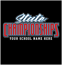 State champions championships vector