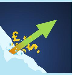 Stockmarket arrow up vector