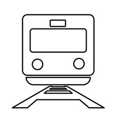 train black color icon vector image