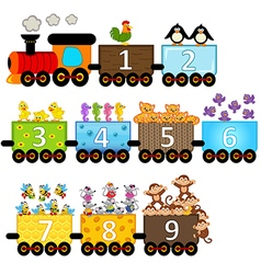 Train with number of animals vector