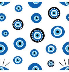 Turkish blue eye-shaped amulets nazar pattern vector