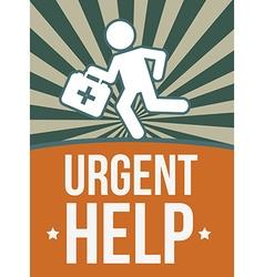 Urgent help design vector