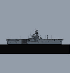 us navy iwo jima class amphibious assault ship vector image