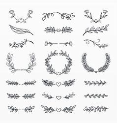 variety decorative ornaments set vector image