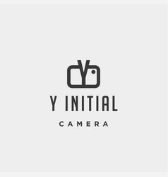 Y initial photography logo template design vector