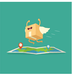 your package rushes to you through whole vector image