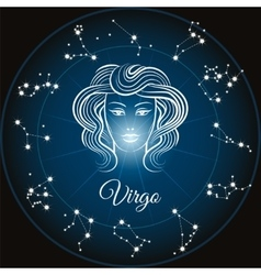 Zodiac sign virgo vector image