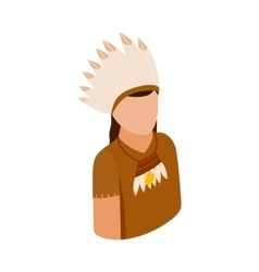American indian isometric 3d icon vector image vector image