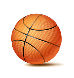 basketball ball sport game fitness symbol vector image