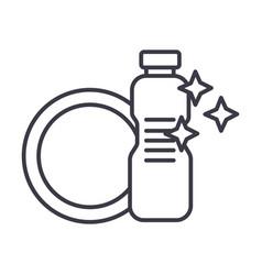dish washingdishwashing detergent line vector image vector image