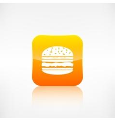 Hamburger web icon Application button vector image vector image