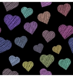 pattern with paint hearts vector image vector image