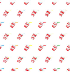 seamless pattern summer beach cold drinks vector image vector image