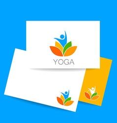 yoga lotos logo template vector image vector image