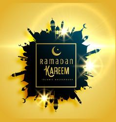 beautiful ramadan kareem greeting card design vector image vector image