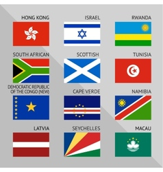 Flags of world flat Set number 10 vector image vector image