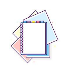 flat design notepad vector image