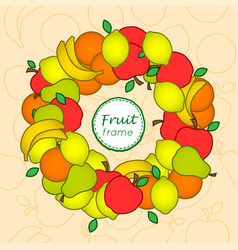 fruit frame vector image