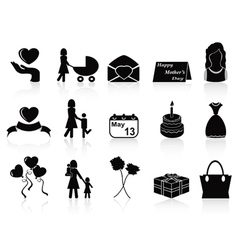 happy mothers day icons set vector image vector image