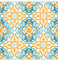 keltic pattern yellow vector image vector image