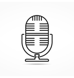 Microphone Line Icon vector image vector image