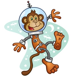 Space Monkey Cartoon Character vector image vector image