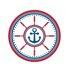 Anchor symbol isolated vector image vector image